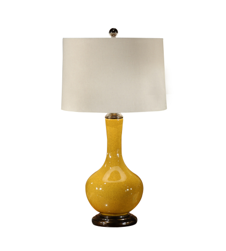 Wildwood Lamps 46495 Water Bottle Table Lamp in Crackle Mustard Glaze