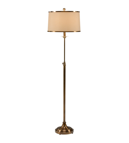 Wildwood Lamps 46616 Antique Patina Iron/Brass 1 Light Adjustable Floor Lamp