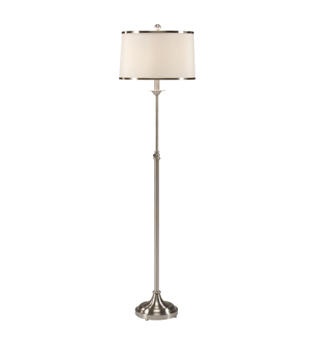 Wildwood Lamps 46618 Nickel Plated Iron/Brass 1 Light Contemporary Floor Lamp