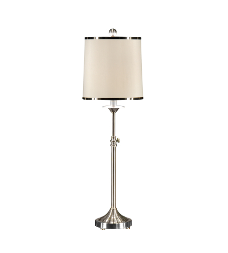 Wildwood Lamps 46619 Nickel Plated Iron/Brass 1 Light Contemporary Table Lamp