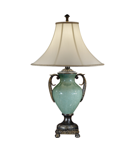 Wildwood Lamps 46858 Handled Urn Table Lamp in Faux Bronze