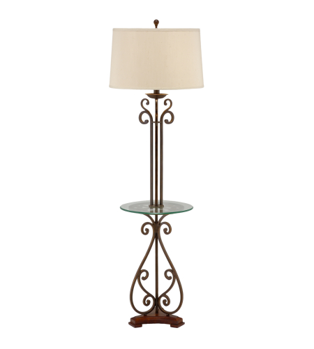 Wildwood Lamps 46877 Blacksmith/Clear Iron/Glass 1 Light Table Floor Lamp