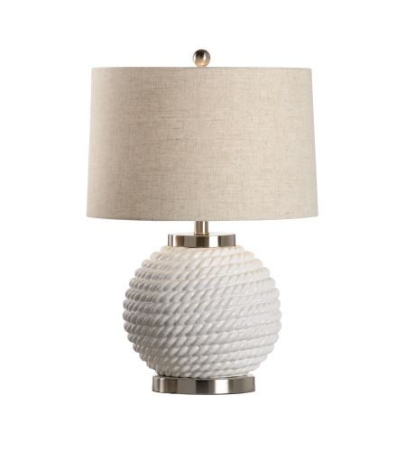 Wildwood Lamps 46980 MarketPlace Marina Lamp - Ice in Ice White Glaze