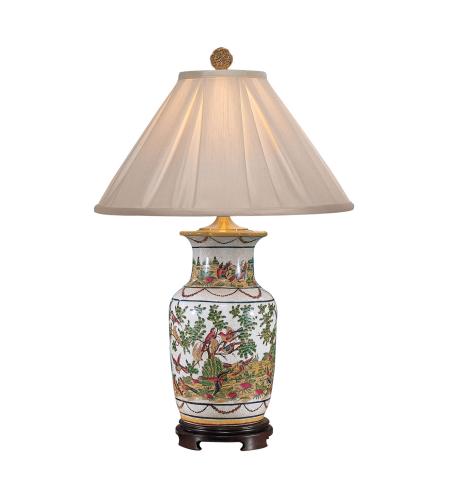 Wildwood Lamps 5236 Wildwood Birdsu0027 Paradise Lamp In Hand Painted