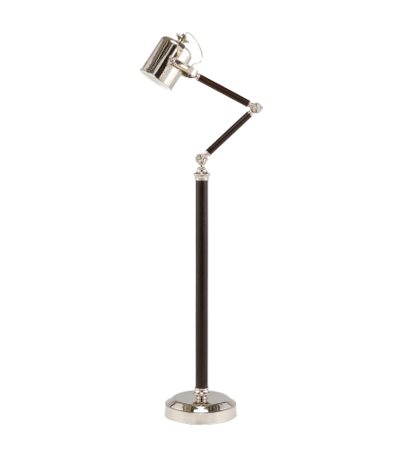Wildwood Lamps 60230 Cylinder Shade Floor Lamp in Nickel Plated Solid Brass
