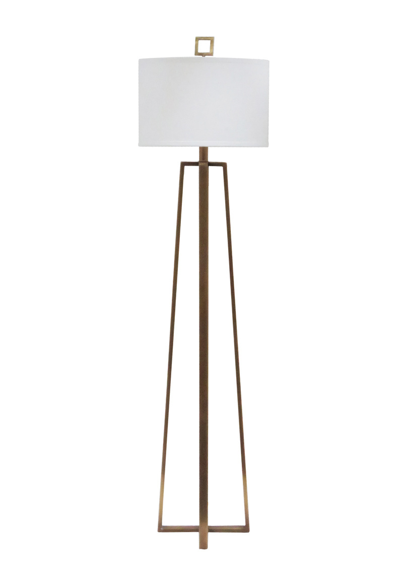 Wildwood Lamps 60523 Wildwood Colson Floor Lamp in Antique Brass