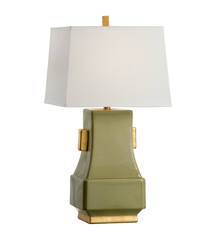 Wildwood Lamps 60577 Transitional Mandarin Lamp - Kiwi In Kiwi Green Glaze