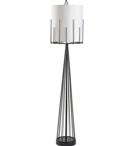 Wildwood Lamps 60723 Wildwood Otis Floor Lamp in Satin Black