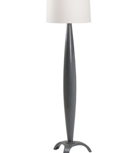 Wildwood Lamps 60806 Wildwood Encore Floor Lamp - Charcoal in Grey