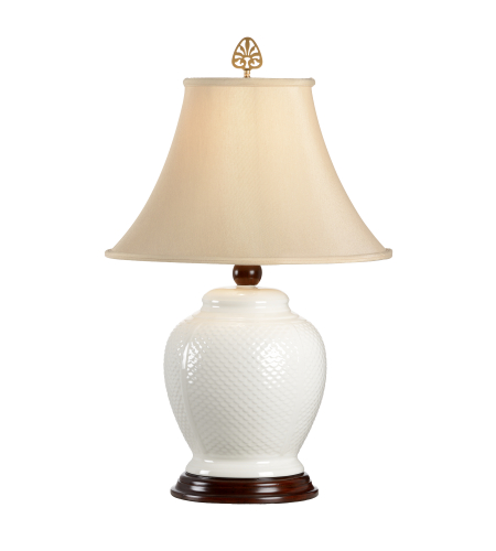 Wildwood Lamps 6613 Wildwood Koi Lamp in White Glaze