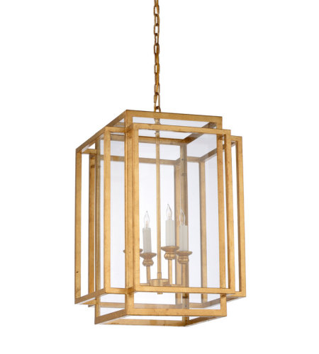 Wildwood Lamps 67178 Wildwood Amherst Chandelier - Gold in Antique Gold Leaf
