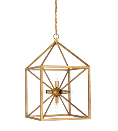 Wildwood Lamps 67180 Wildwood Portsmith Chandelier - Gold in Antique Gold Leaf