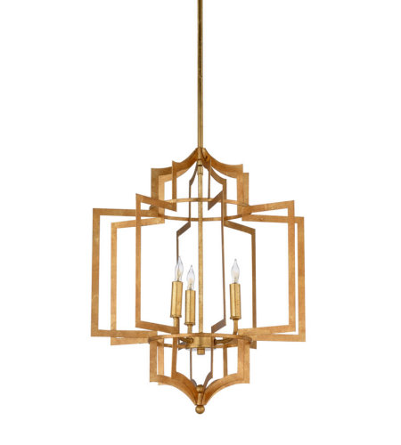 Wildwood Lamps 67188 Wildwood Dover Chandelier - Gold in Antique Gold Leaf