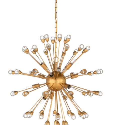 Wildwood Lamps 67204 Wildwood Saturn Chandelier - Gold in Antique Gold Leaf