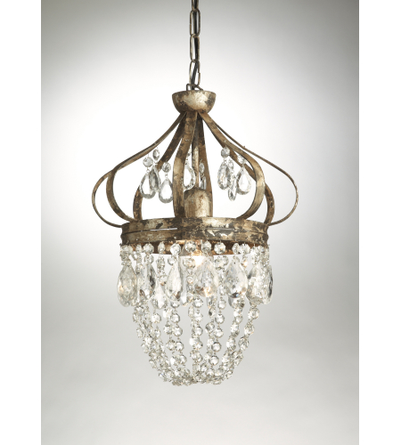 Wildwood Lamps 68035 Chelsea House Dunsmore Pendant in Crystal Pendants And Swags