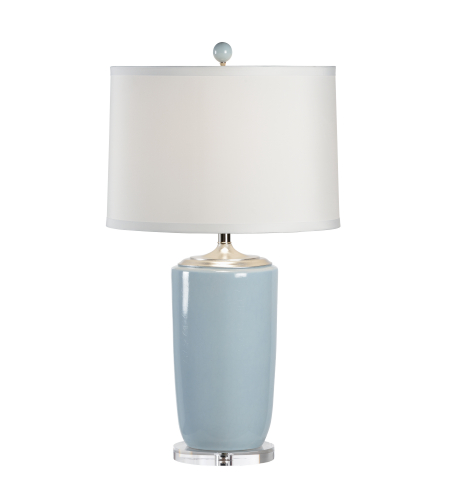 Wildwood Lamps 68644 Lisa Kahn Large Blue Vase Lamp in Lisa Kahn Design