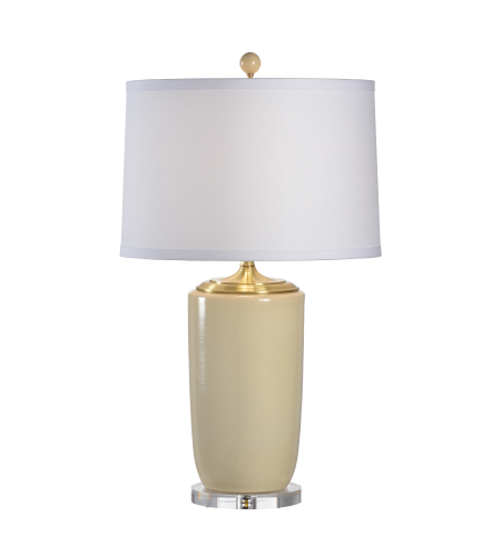 Wildwood Lamps 68645 Lisa Kahn Large Beige Vase Lamp in Lisa Kahn Design