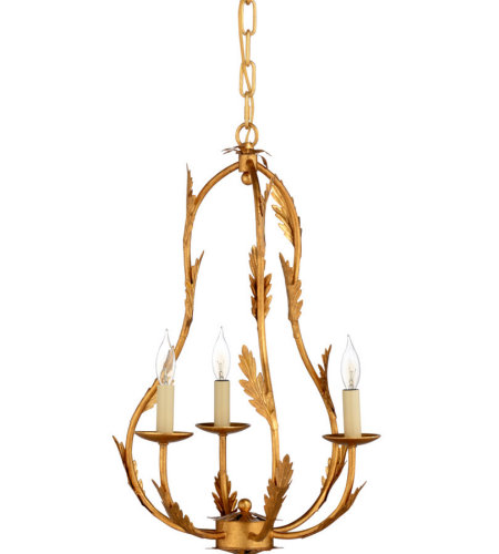 Wildwood Lamps 69168 Pam Cain Petite Chandelier-Gold in Antique Gold Leaf