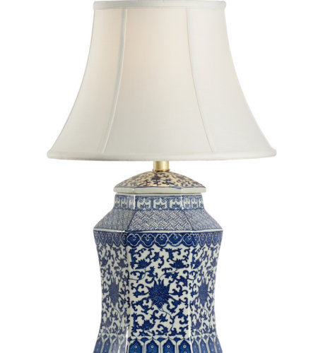 Shop For Chelsea House 69255 Chelsea House Dynasty Vase Lamp In Blue
