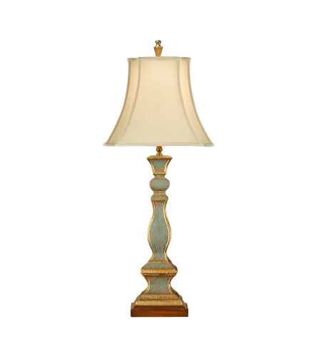 Wildwood Lamps 8889 Wildwood Old Worn Column Lamp in Hand Painted