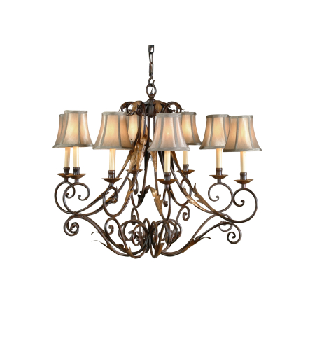 Wildwood Lamps 8897 Iron Chandelier in Tuscan Rust/Gold Finish