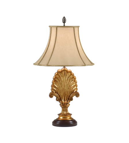 Wildwood Lamps 9296 Wildwood Shell And Scrolls Lamp In Gold Leaf